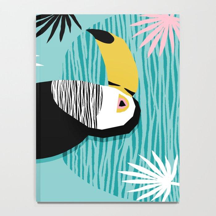 Loopy - wacka designs abstract bird toucan tropical memphis throwback retro neon 1980s style pop art Notebook