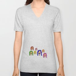 Colorful Characters Unisex V-Neck