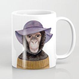 C is for a Cozy Chimpanzee | Watercolor Monkey Coffee Mug