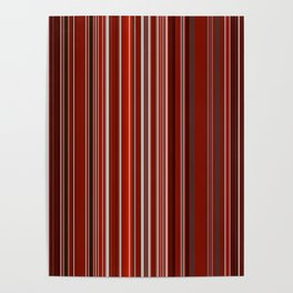 Red Fine Stripes Poster