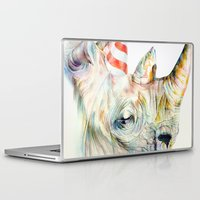 party Laptop & iPad Skins featuring Rhino's Party by Brandon Keehner