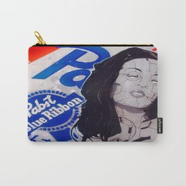 pabst blue ribbon robot lady Carry-All Pouch