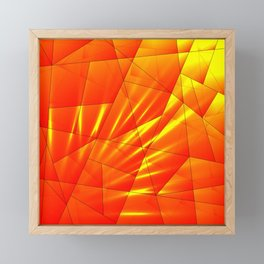 Bright sunshine on orange and yellow triangles of irregular shape. Framed Mini Art Print
