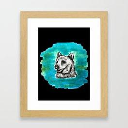 Bear in Water Framed Art Print