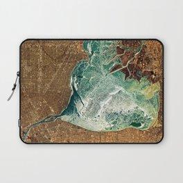 Frozen Lake St. Clair & Detroit Laptop Sleeve