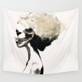 Serene - Digital fashion illustration / painting Wall Tapestry