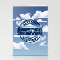 aviation Stationery Cards featuring Retro Aviation Art by MacDonald Creative Studios
