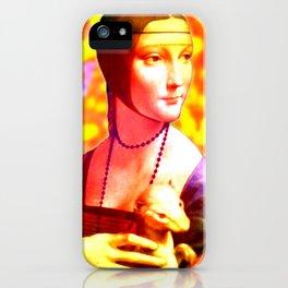 Dama con l'Ermellino iPhone Case