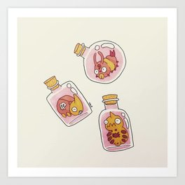 Bottle Bugs I Art Print