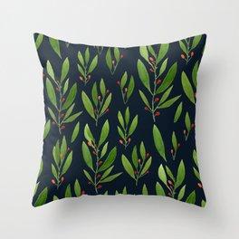 simple black nature Throw Pillow