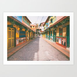 Guatape Colorful Colombia Fine Art Print  • Travel Photography • Wall Art Art Print