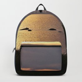 Golden Sparkling Waters Backpack