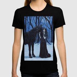 Midnight Travelers Gothic Fairy and Unicorn T-shirt