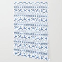 Christmas pattern. Cross-stitch. 2 Wallpaper