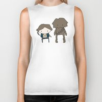 han solo Biker Tanks featuring Han Solo & Chewie by Justin Temporal