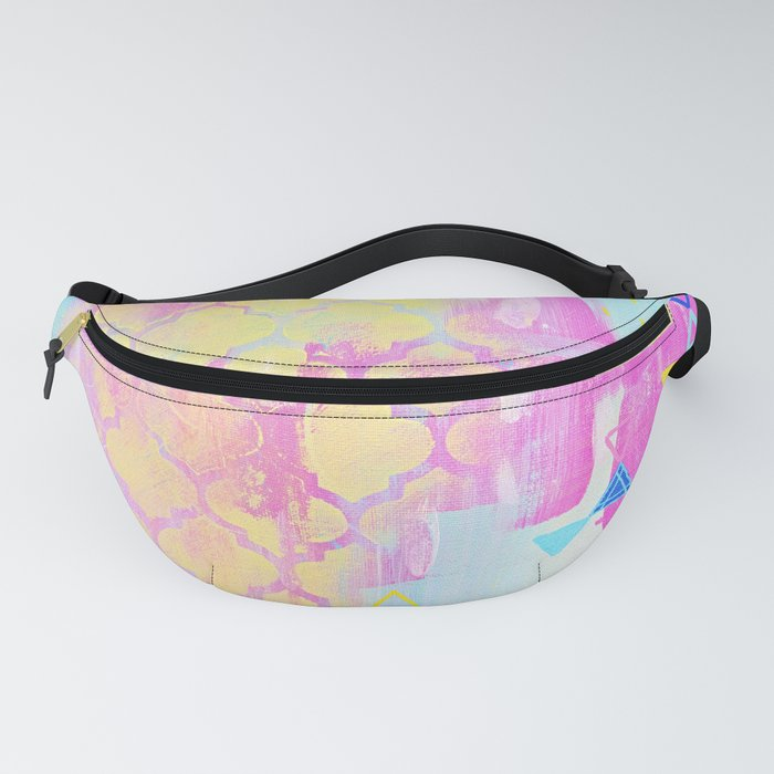 Abstract Mix - Lemon Yellow, Magenta & Turquoise Fanny Pack