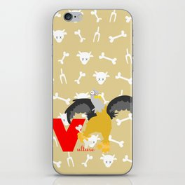 V for vulture iPhone Skin