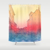 stockholm Shower Curtains featuring Stockholm by Jonas Ericson