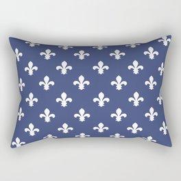 Blueberry Southern Cottage Fleur de Lys Rectangular Pillow