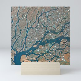 Lena Delta Satellite Image Mini Art Print