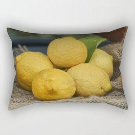 lemon in the basket Rectangular Pillow