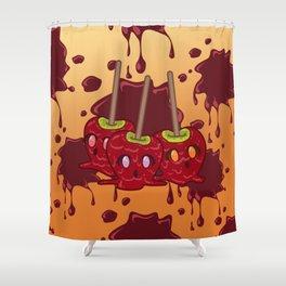 Desserts - Caramel Apples - HALLOWEEN Shower Curtain