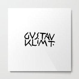 Gustav Klimt's Signature Metal Print
