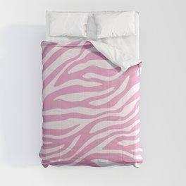 Pink Zebra Animal Print  Comforters