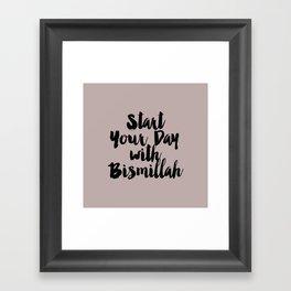 Start Your Day Framed Art Print