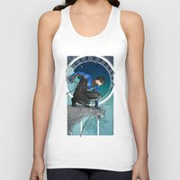 nightwing Tank Tops featuring Nightwing Nouveau by stoopz