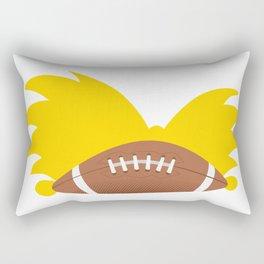 Football Head Rectangular Pillow