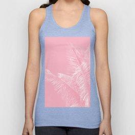 Millennial Pink illumination of Heart White Tropical Palm Hawaii Unisex Tank Top