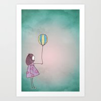ballon Art Prints featuring One Ballon by Jelot Wisang