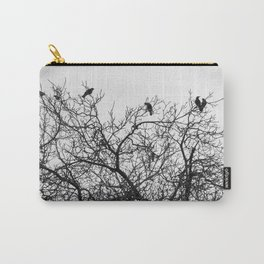 A murder of crows sitting in a tree Carry-All Pouch