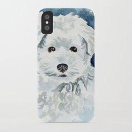 Bichon Frise Watercolor iPhone Case