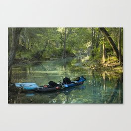 Kayak in the Spring Canvas Print