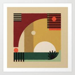 Terra Elephant Abstract Art Print