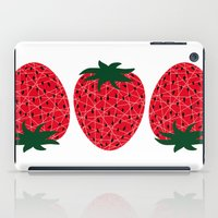 strawberry iPad Cases featuring Strawberry by Dpat Designs