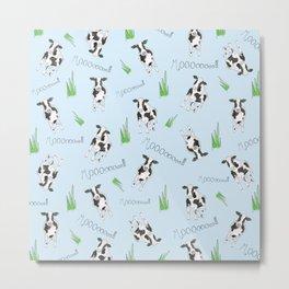 The Cow Print Pattern Metal Print