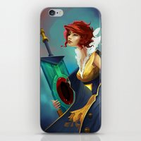 transistor iPhone & iPod Skins featuring Red and Luna by Leksotiger
