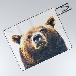 Bear portrait Picnic Blanket