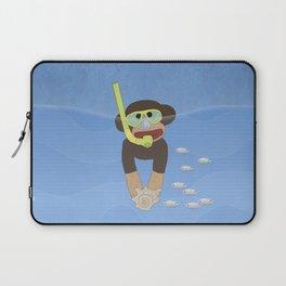 Sock Monkey Snorkeling Laptop Sleeve