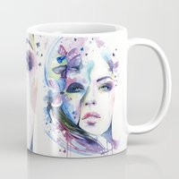 lunar Mugs featuring lunar mistery by Cora-Tiana