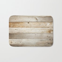 Rustic Barn Board Wood Plank Texture Bath Mat