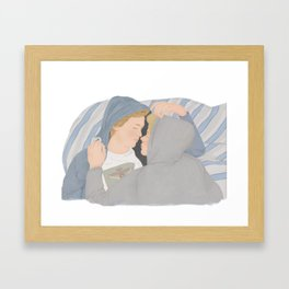 Isak & Even illustration | Skam, Evak Framed Art Print