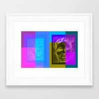 frames Framed Art Prints featuring Frames by Chris League
