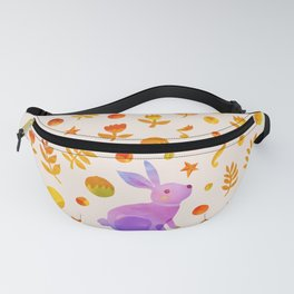 Abstraction_Rabbit_Wonderland_Floral_001 Fanny Pack