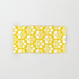 Mid Century Garden Flower Pattern Yellow 3 Hand & Bath Towel