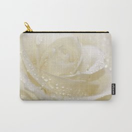 Rose white 01 Carry-All Pouch