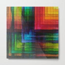 Square Rainbow in Amsterdam - Watercolour Metal Print